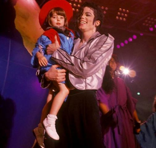 children in michael's arms